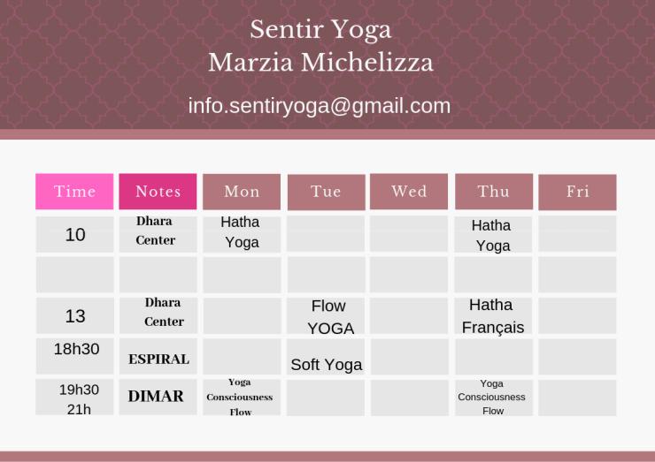 personal class schedule